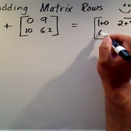 Adding Matrix Rows