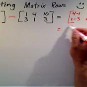 Subtracting Matrix Rows