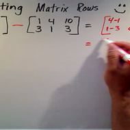 Subtracting Matrix Rows