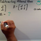 Adding or Subtracting Altered Rows