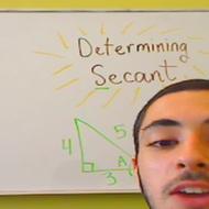 Determining Secant in Context