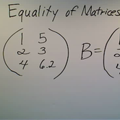 Equality in Matrices