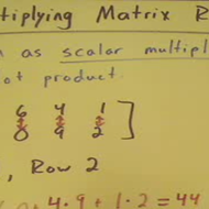 Multiplying Matrix Rows