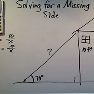 Solving for a Missing Side