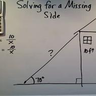 Solving for a Missing Side