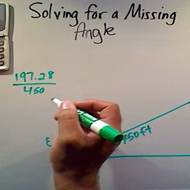 Solving for a Missing Angle