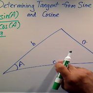 Determining Tangent from Sine and Cosine