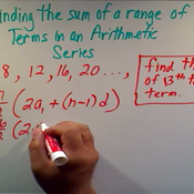 Finding the Sum of a Range Arithmetic
