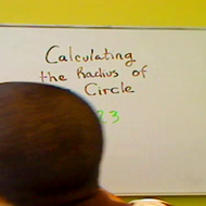 Calculating the Radius of a Circle