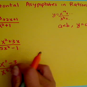 Finding the Horizontal Asymptote of a Rational Equation