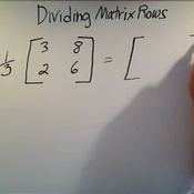 Dividing Matrix Rows
