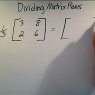 Dividing Matrix Rows