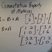 Commutative Property of Matrices