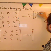 Interchanging Matrix Rows