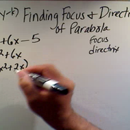 Determining the Focus and Directrix