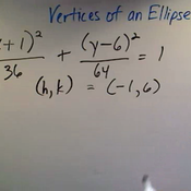 Determining the Vertices of an Ellipse