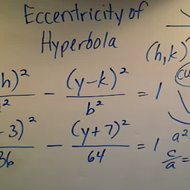 Determining the Eccentricity of a Hyperbola
