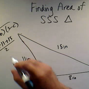 Finding the Area of an SSS Triangle
