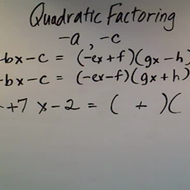 Factoring Negative A and C