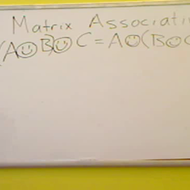 Associative Property of Matrices