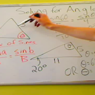 Solving for an Angle with the Law of Sines