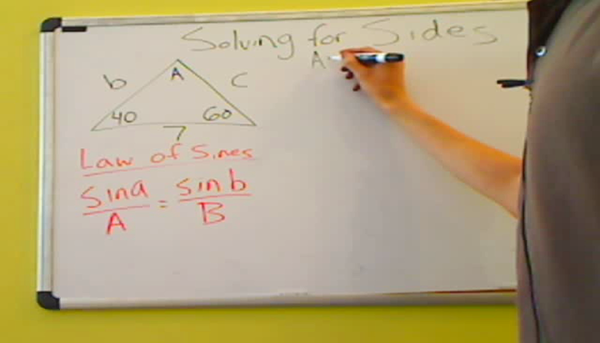 Solving for a Side with the Law of Sines