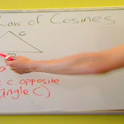 Solving an SSS Triangle with the Law of Cosines