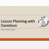Lesson Planning With Danielson