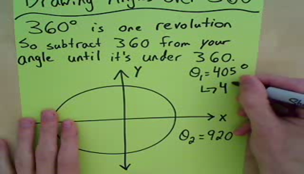 Drawing an Angle Over 360 Degrees