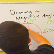 Drawing a Negative Angle