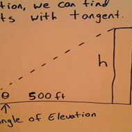 Problems with Distance and Angle of Elevation