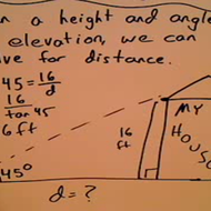 Problems with Height and Angle of Elevation