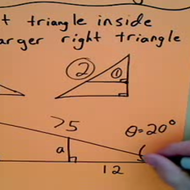 Inset Triangle Problems