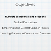 Converting a Decimal into a Fraction