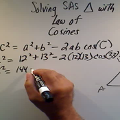 Solving an SAS Triangle with the Law of Cosines