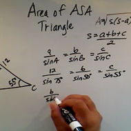 Solving the Area of an ASA Triangle