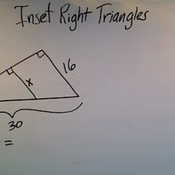 Solving Problems with Inset Right Triangles