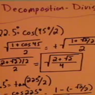 Decomposing Angles Using Division