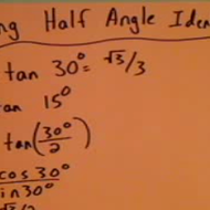 Applying Half Angle Identites