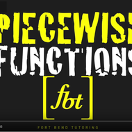 Evaluating Piecewise-Defined Functions