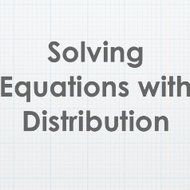 Solving Equations with Distribution