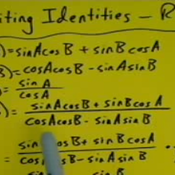 Rewriting an Identity in Terms of a Ratio