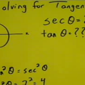 Solving a Pythagorean Identity for Tangent