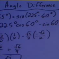 Applying Angle Difference Identities