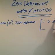 Zero Determinant