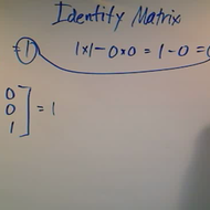 Determinant of the Identity Matrix