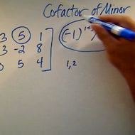 Finding the Cofactor of a Minor