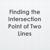 Finding the Intersection Point of Two Lines
