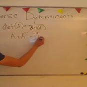 Determinant of an Inverse Matrix