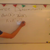 Determinant of an Inverse Matrix